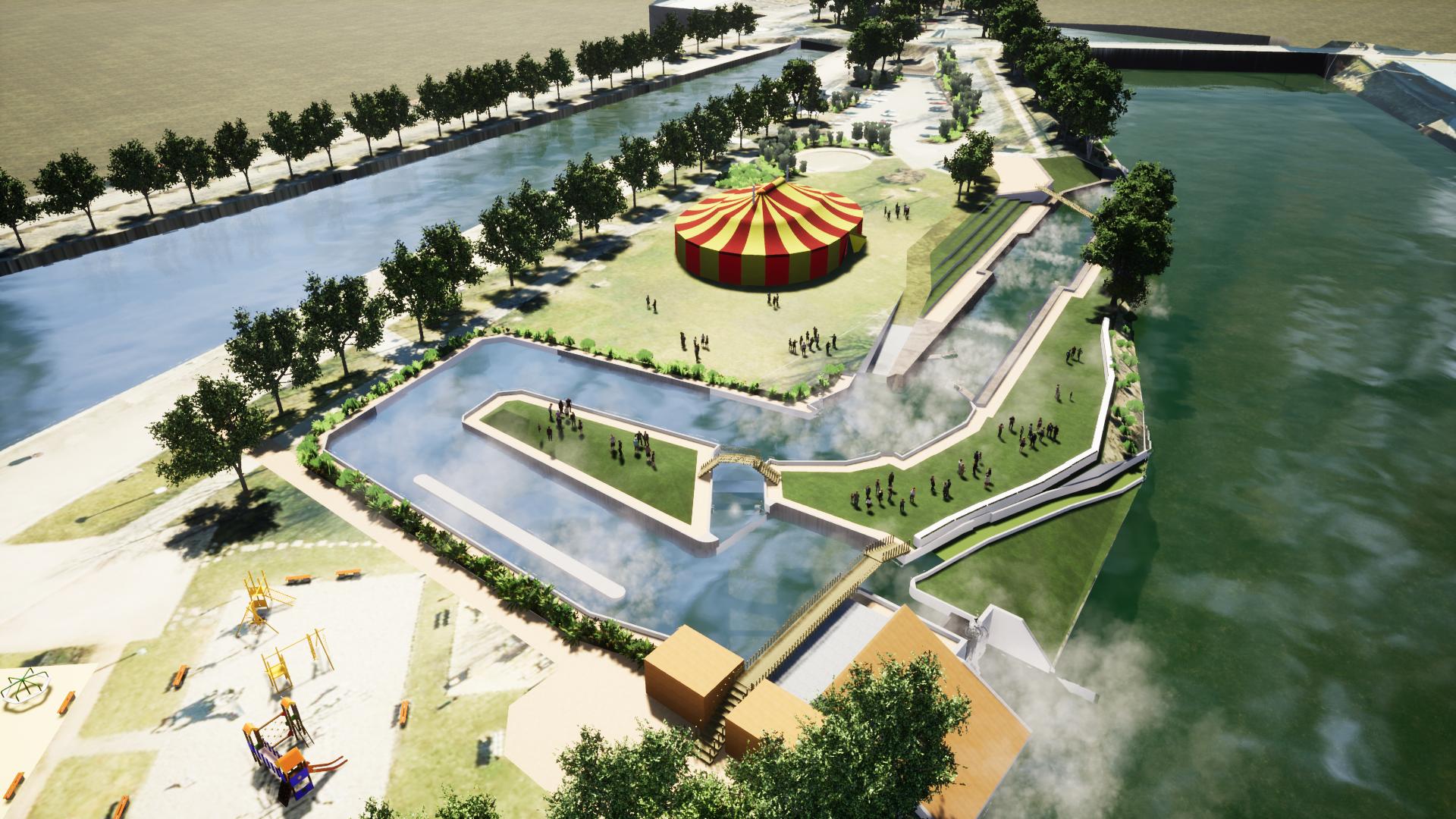 Stade d'eaux vives au port : découvrez le projet !