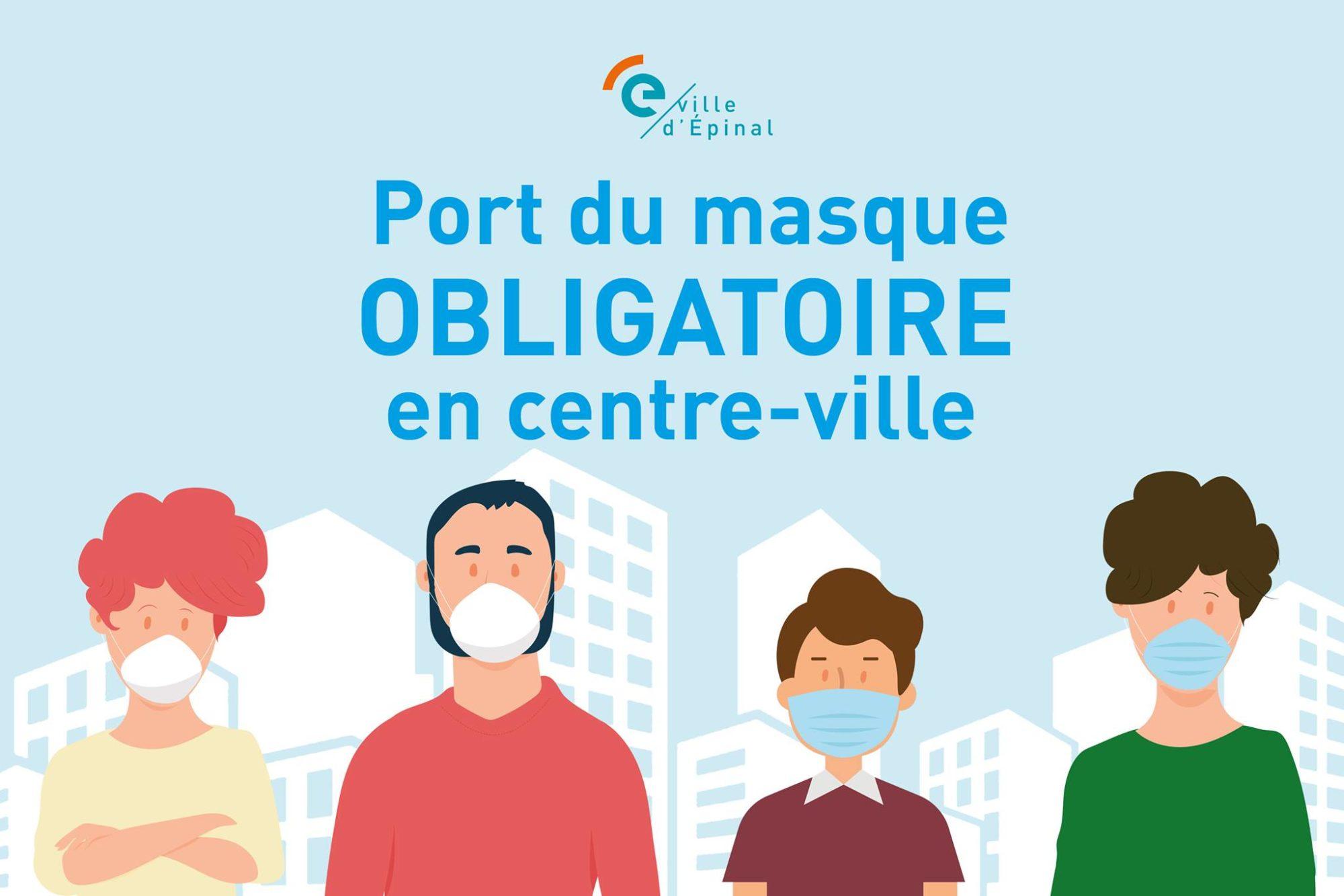 Port du masque obligatoire en centre-ville jusqu'au 31 janvier