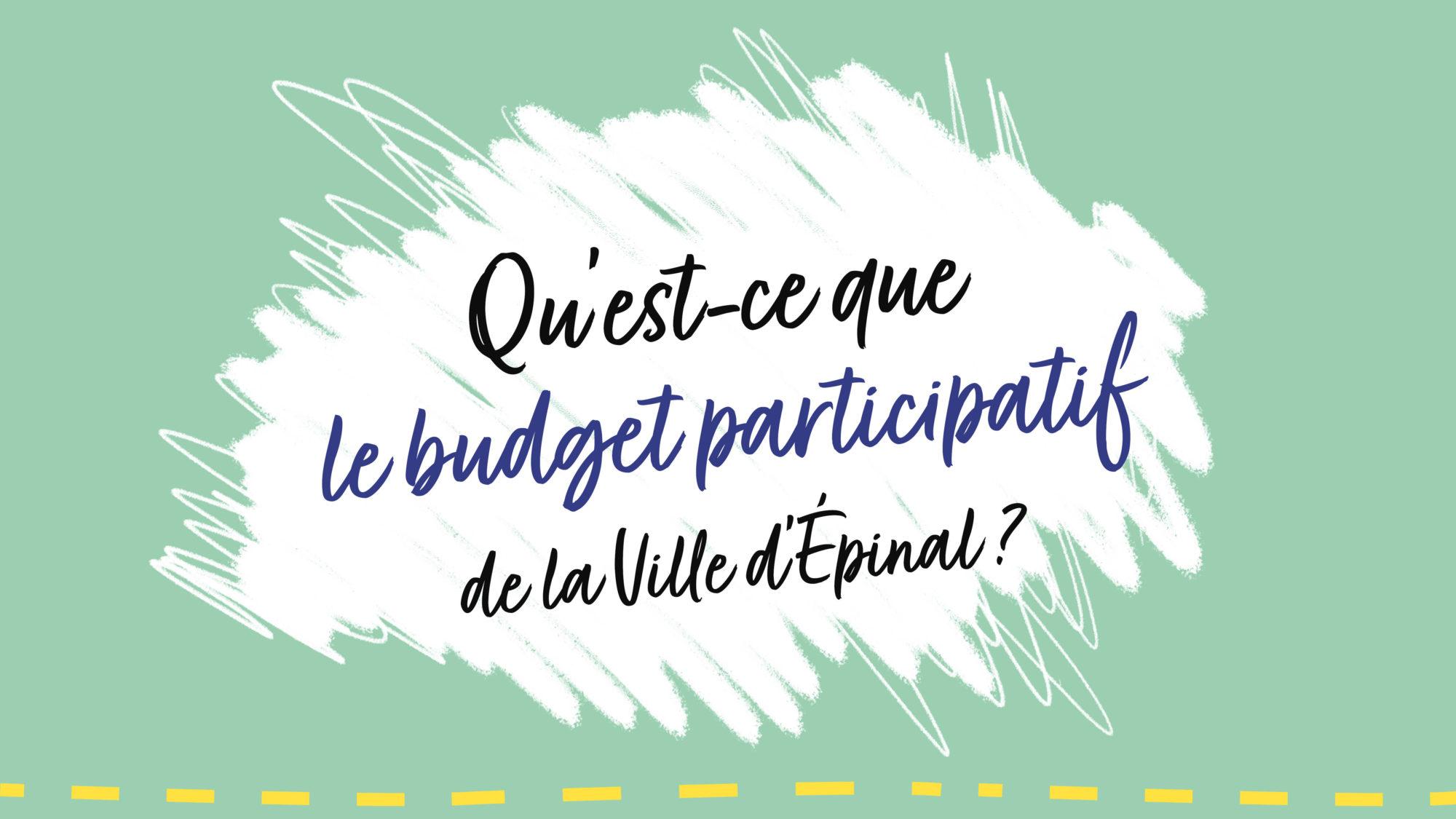 🎬▶️ Le budget participatif de la Ville d'Épinal : comment ça marche ?